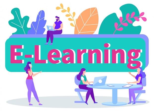 Bannière d'apprentissage à distance en ligne
