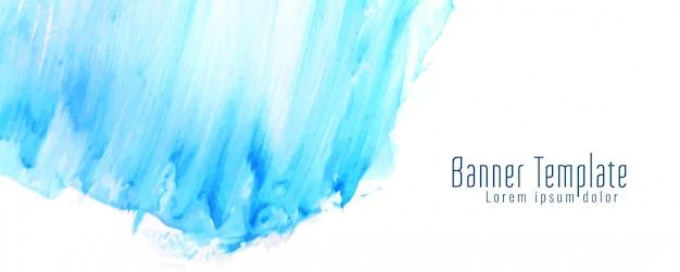 Bannière aquarelle abstraite bleue