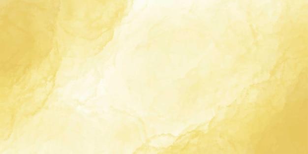 Bannière aquarelle or jaune