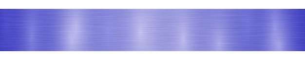 Bannière ou arrière-plan en métal horizontal abstrait avec des reflets dans des couleurs bleu vif