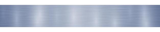 Bannière ou arrière-plan en métal horizontal abstrait avec des reflets dans des couleurs bleues