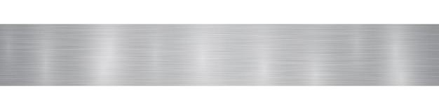 Bannière ou arrière-plan en métal horizontal abstrait avec des reflets dans des couleurs grises