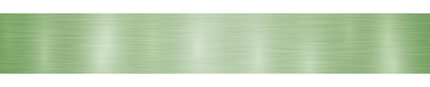 Bannière ou arrière-plan en métal horizontal abstrait avec des reflets dans des couleurs vert clair