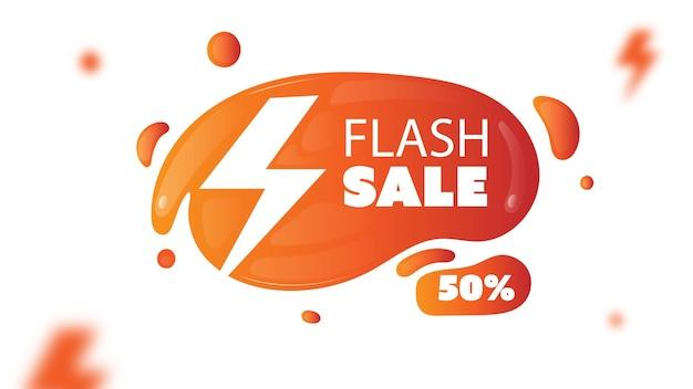 Bannière ou arrière-plan de vente flash liquide dégradé abstrait
