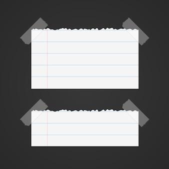 Bannière d'art papier déchiré sur fond noir. illustration vectorielle