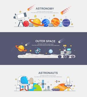 Bannière d'astronaute