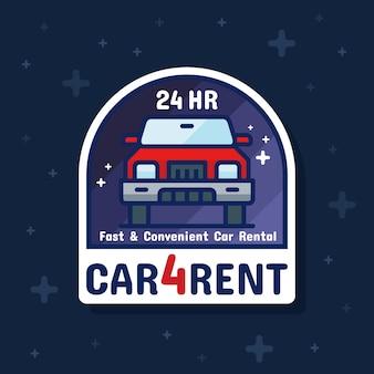 Bannière d'autocollant de service de voiture de location