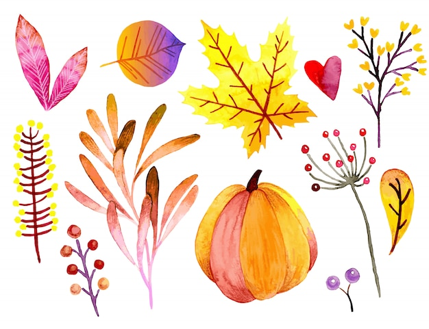 Bannière automne aquarelle