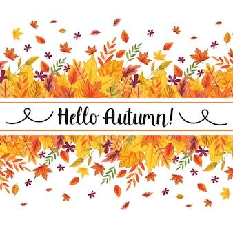 Bannière d'automne hallo