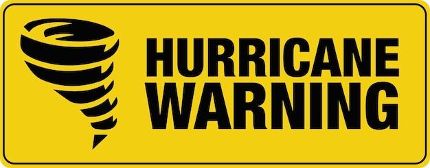 Bannière d'avertissement d'ouragan. signe. saison.