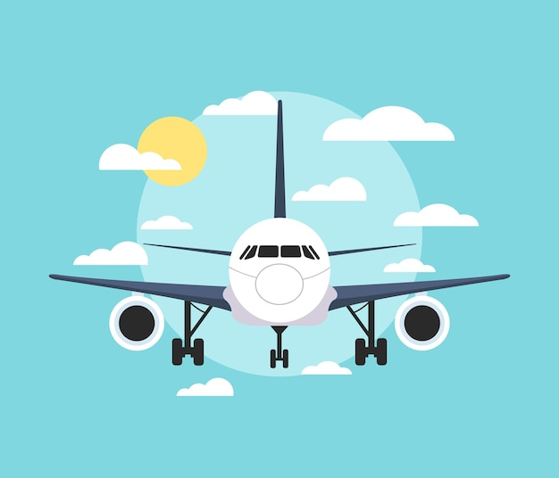 Bannière avec un avion.