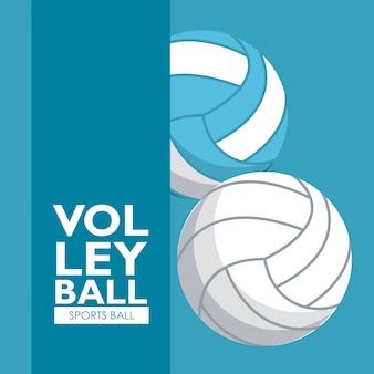Bannière de balles de sport de volley-ball