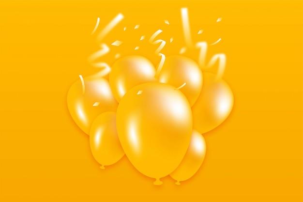 Bannière de ballon et confettis
