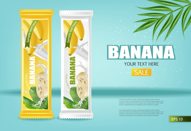 Bannière banane chocolat