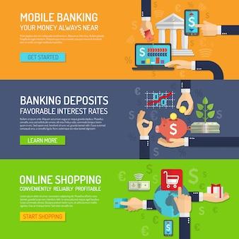 Bannière bancaire horizontale