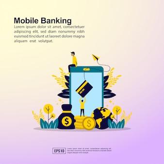 Bannière bancaire mobile