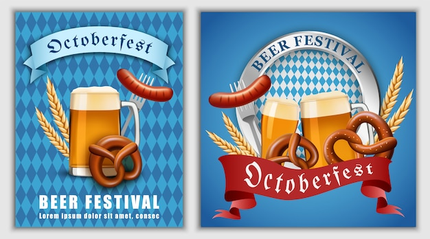 Bannière de la bière de la fête d'octobre