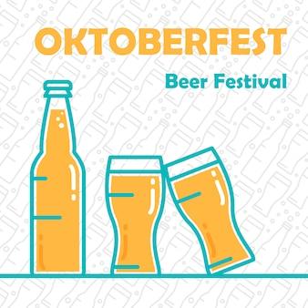 Bannière de bière oktoberfest