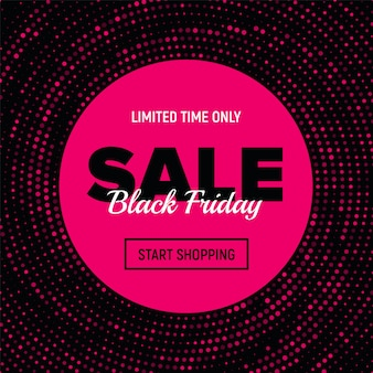 Bannière black friday sale.