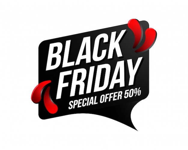 Bannière black friday sale