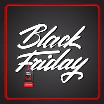 Bannière black friday avec texte dans cadre rouge