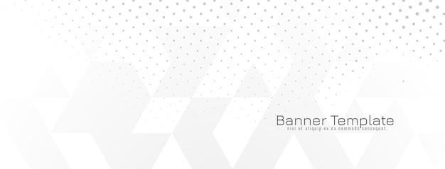 Bannière blanche géométrique lumineuse abstraite