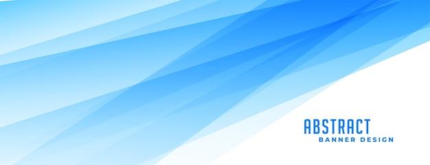 Bannière bleue abstraite avec effet de lignes transparentes