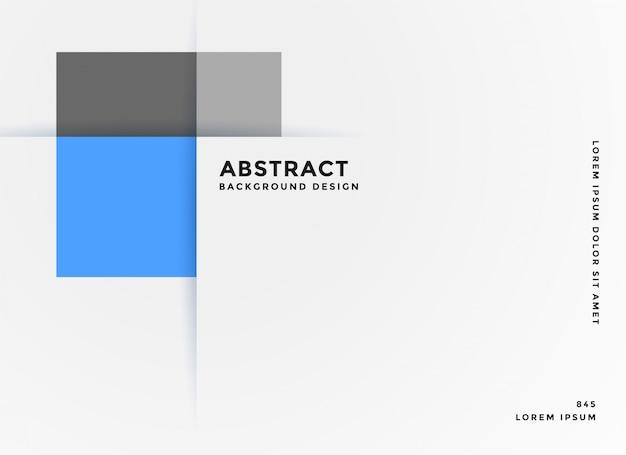 Bannière bleue géométrique de style simple entreprise