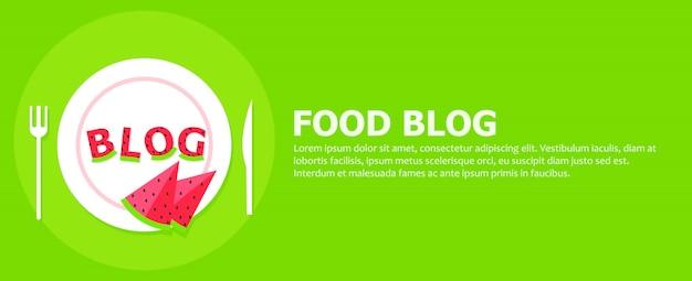 Bannière de blog de nourriture