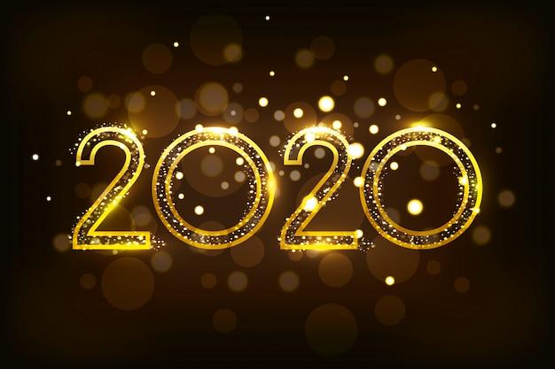 Bannière de bonne année 2020