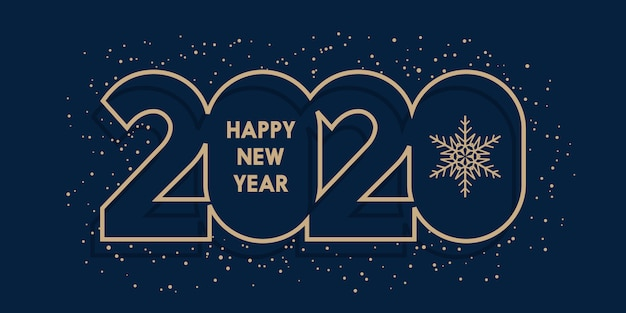 Bannière de bonne année