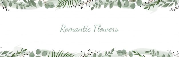 Bannière botanique horizontale.