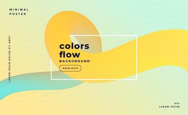 Bannière de boucle fluide abstrait couleur pastel doux