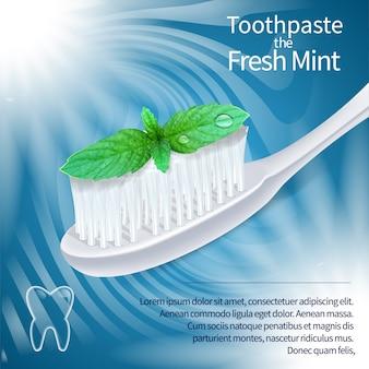Bannière de brosse à dents de soins