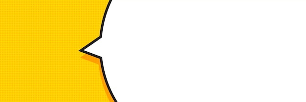 Bannière de bulle de discours dans un style pop art.