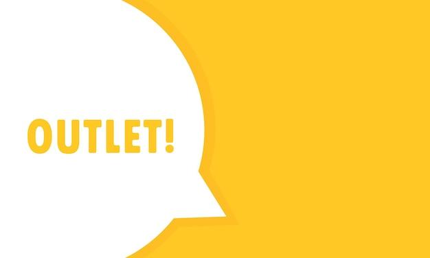 Bannière de bulle de discours de sortie. peut être utilisé pour les affaires, le marketing et la publicité. vecteur eps 10. isolé sur fond blanc.