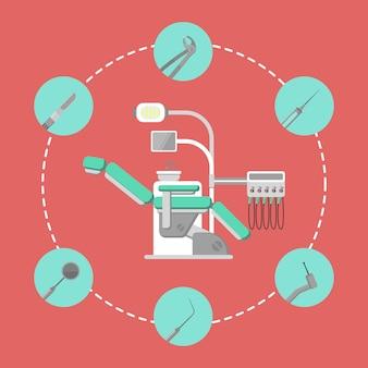 Bannière de cabinet dentaire avec fauteuil dentaire