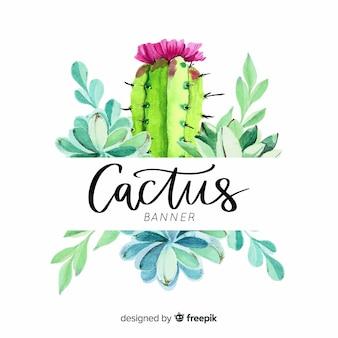 Bannière de cactus