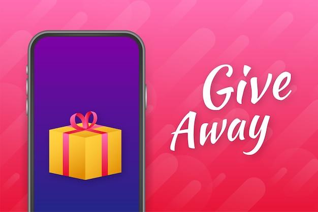 Bannière cadeau pour les concours sur les réseaux sociaux et offre spéciale