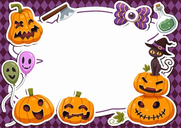 Bannière de cadre joyeux halloween