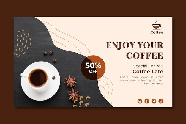 Bannière de café de qualité supérieure
