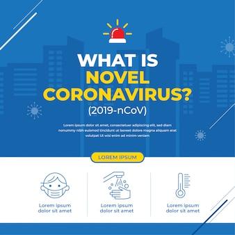 Bannière de campagne pour un nouveau coronavirus