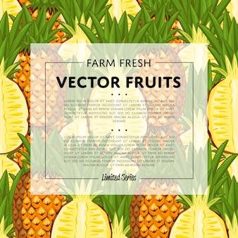 Bannière carrée aux fruits de la ferme biologique