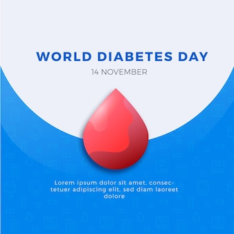 Bannière carrée de la journée mondiale du diabète