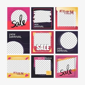 Bannière carrée de médias sociaux pour le marketing