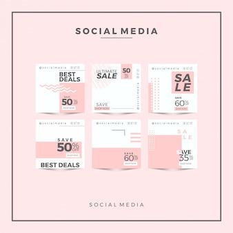 Bannière carrée pour instagram, meilleures offres pour les magasins de mode