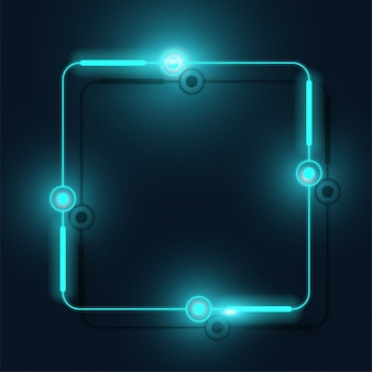 Bannière carrée de la technologie.
