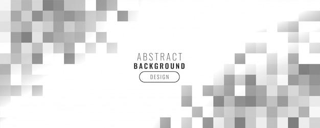 Bannière de carrés de style affaires mosaïque abstraite