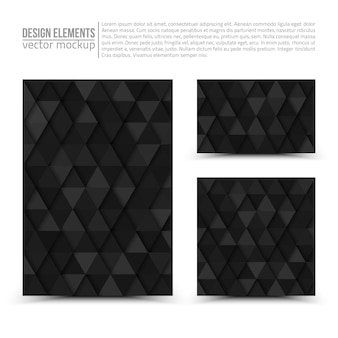 Bannière de carte de vecteur de conception éléments de conception