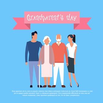 Bannière de carte de voeux happy grandparents day
